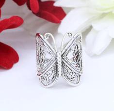 Sterling, butterfly, butterflyring, Jewelry