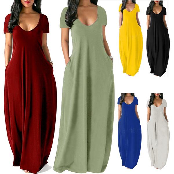 Summer, short sleeve dress, Sleeve, long dress