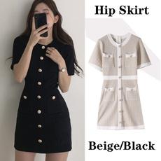 nightclub dress, Mini, Summer, button