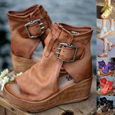 Summer, Fashion, wedge, Peep Toe