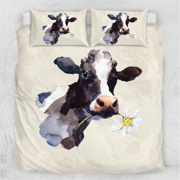 3dprintbeddingset, Sheets, cow, quiltcover