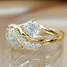 DIAMOND, femalering, wedding ring, gold