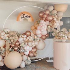 White Gold, pink, balloongarland, Garland