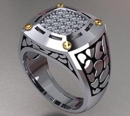 Sterling, ringsformen, DIAMOND, gold
