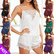 Women, nightwear, Shorts, Sexy Top