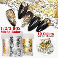 nail stickers, art, gold, Beauty