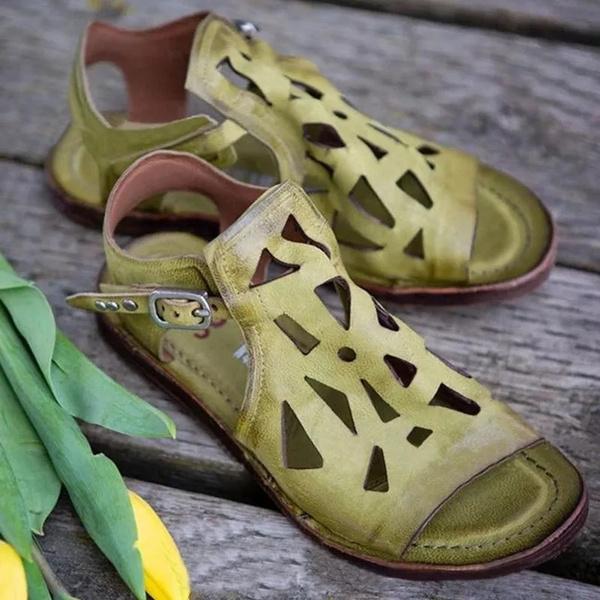 Summer, sandalendamen, Sandals, leather