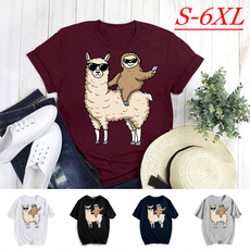 Funny, Shorts, tops shirts for women, llamashirt