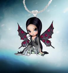 Fashion, fairy, batpendant, spidernecklace