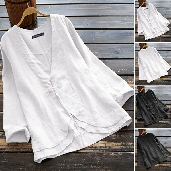 blouse, workteetshirt, Plus Size, Cotton