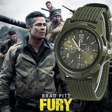 men accessories, quartz, bracelet watches, Army