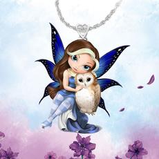 Owl, crystal pendant, Fashion, Love