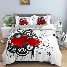 Heart, Love, printed, quiltcover