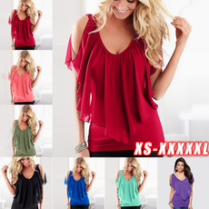 Summer, Plus Size, off the shoulder top, chiffon