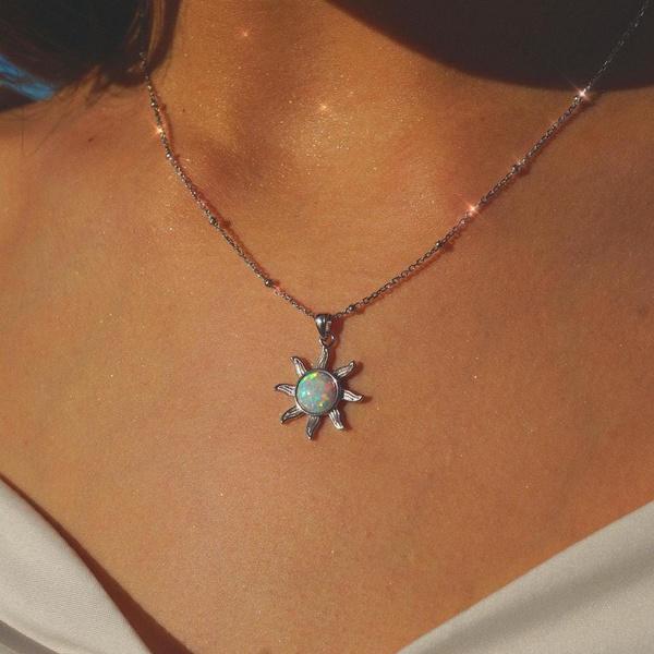 Steel, Jewelry, Chain, Sun