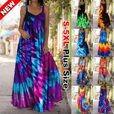 Summer, Plus Size, boho, long dress