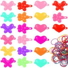 butterfly, Heart, Flowers, minirubberband