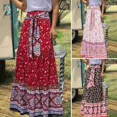 Summer, long skirt, Plus Size, Dress