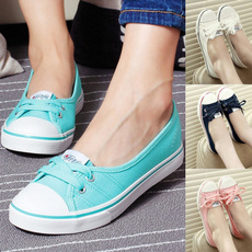 Flats, Sneakers, Outdoor, Lace