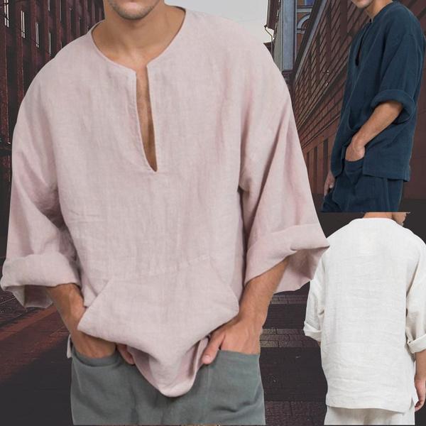 shirtsformenlongsleeve, Deep V-Neck, pulloverformen, Long sleeved