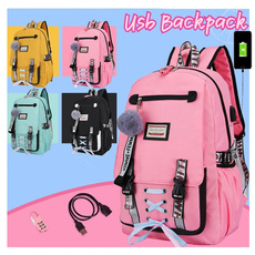 School, Backpacks, usb, antitheft