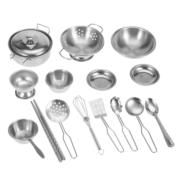 Pretend Play, kitchentoy, Stainless Steel, Cooking