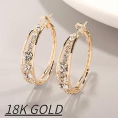 Hoop Earring, Jewelry, gold, Earring