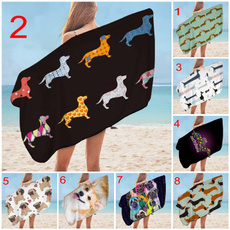 beachtowelsfortravel, puppy, Towels, Colorful
