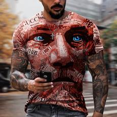 Fashion, roundneckshortsleeve, mens tops, 3dprintedtshirt