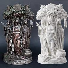 Celtic, maidenmothersculpture, Sculpture, Garden