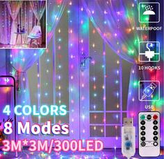 led, Garden, curtainfairylight, bedroom