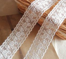 cottonlacetrimribbon, embroiderylaceribbon, Flowers, dressfabric