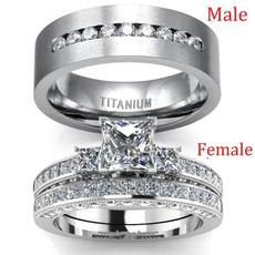 White Gold, Sterling, DIAMOND, wedding ring