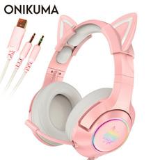 pink, Headset, Video Games, wirelessearphone
