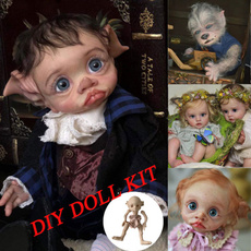 unpaintedbabydollkit, Head, doll, Handmade