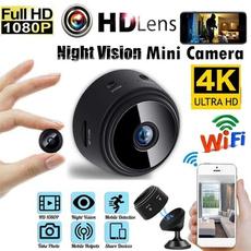 Mini, Spy, actioncamera4k, Webcams
