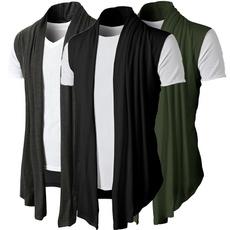 sleeveless, cardigan, cardiganformen, Slim Fit