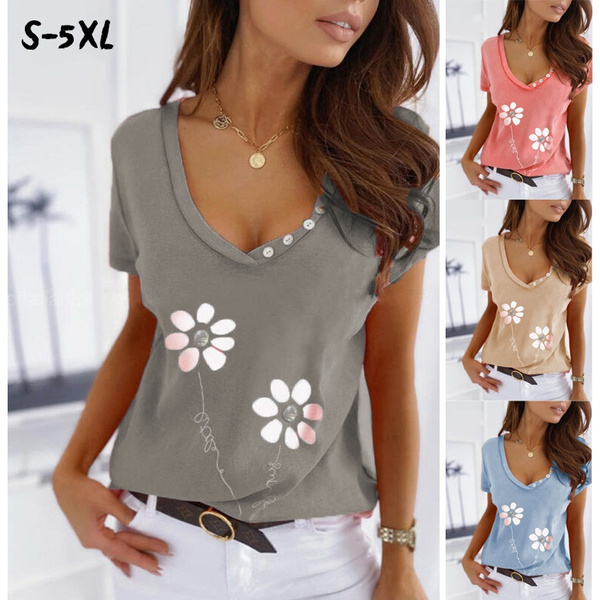Summer, Plus Size, Tops, Loose