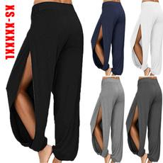 sideslitpant, fashion women, ladiesharempant, Yoga
