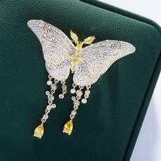 butterfly, Clothing & Accessories, diamondbrooch, ladiesbrooch