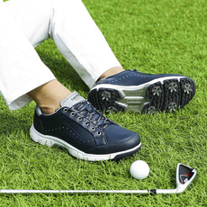 spikedshoe, Golf, leather shoes, Waterproof