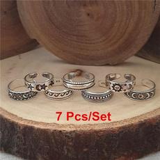 bohemia, Star, Jewelry, Silver Ring