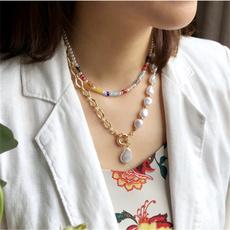 clavicle  chain, Chain Necklace, Irregular, Chain