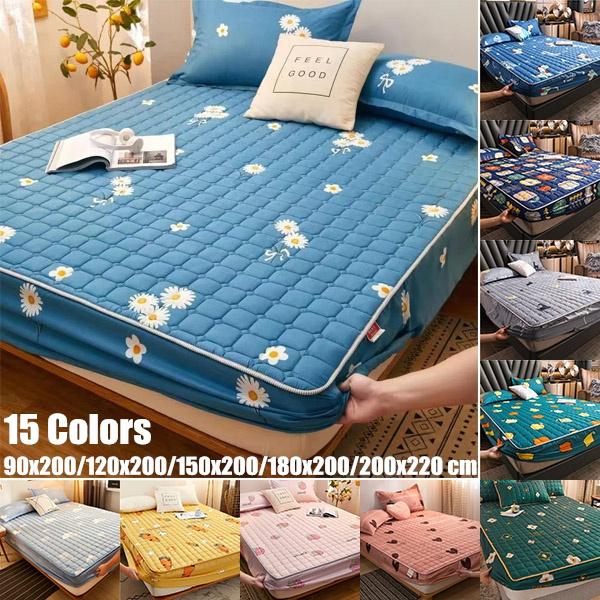 quiltedmattresscover, mattresspad, Elastic, quilted