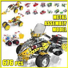 Steel, Jigsaw, Toy, diystainlesssteelassembledvehicle