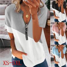 Summer, Plus Size, casualwomen, Shirt
