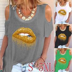 Summer, Fashion, Graphic T-Shirt, Women Blouse