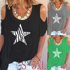 blouse, Graphic, Star, Necks