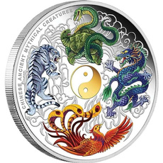 Beautiful, Tiger, collectiblecoin, chinesefengshuicoin
