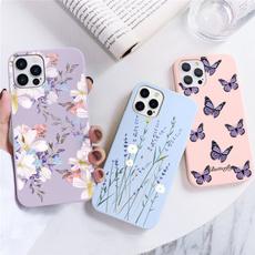case, butterfly, Galaxy S, Flowers